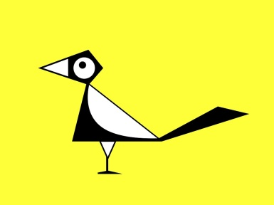Cartoon magpie sign